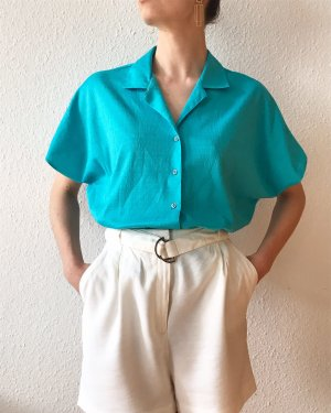 Vintage Blouse-chemisier turquoise