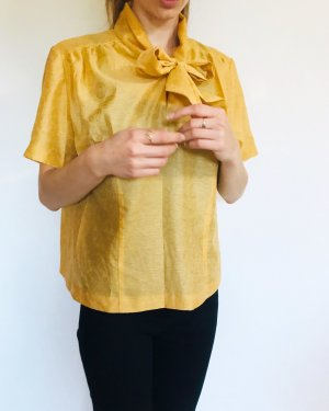 Vintage Tie-neck Blouse yellow