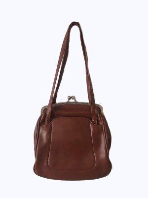 Super schöne Vintagetasche in braun mit Henkeln