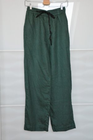 Zara Linen Pants forest green linen