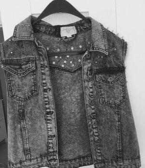 Pull & Bear Smanicato jeans grigio scuro