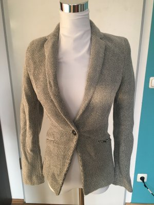 H&M Blazer dark grey-natural white