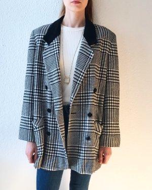 Super schöner eleganter Blazer/ Jacke- schwarz weiss kariert