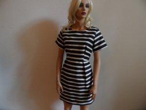 Super schöner Kleid H&M   Gr 40/42 Neu .Weis/Blau