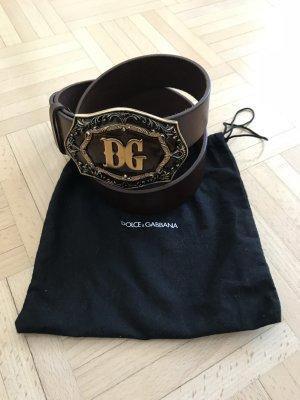 Dolce & Gabbana Leather Belt brown