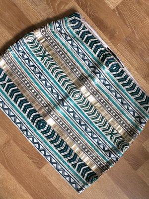 Super schöner pailletten perlen skirt rock kleid pailletten palietten gr. S von zara aztek boho
