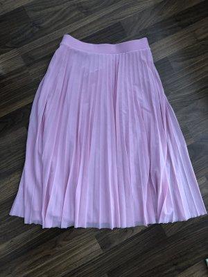 Bershka Pleated Skirt pink
