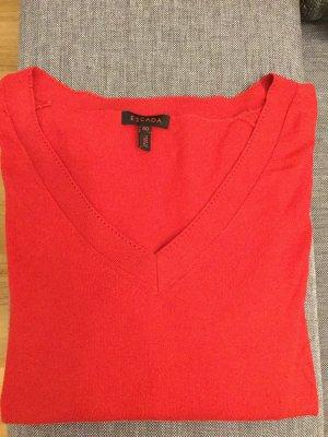 Super schöner Roter Seiden-Pullover von ESCADA in Größe 40
