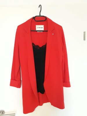 Super schöner Sweat Longblazer / Kurzmantel der Marke Rich&Royal in rot Gr. M
