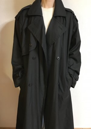 Super schöner Vintagemantel/ Trenchcoat in schwarz
