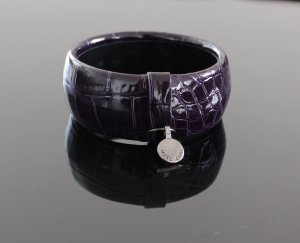Marc Cain Bangle brown violet leather