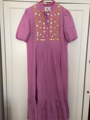 Super schönes Boho Hippie Sommer Kleid Noa Noa S Baumwolle Flieder bestickt