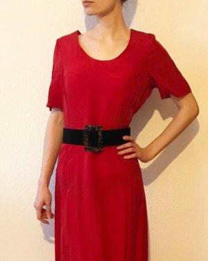 Super schönes elegantes, rotes Vintagekleid aus Cupro/ Kunstseide