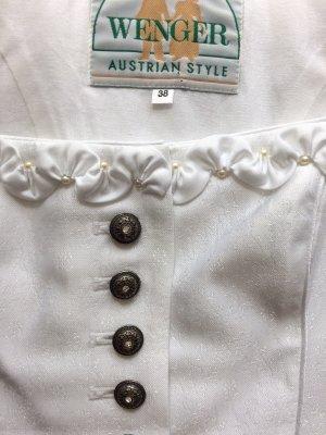Wenger Vestido Dirndl blanco tejido mezclado