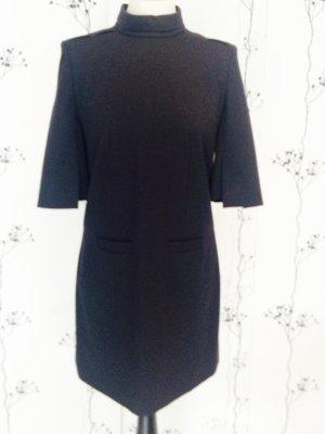 Super schönes HUGO Wollkeid, Größe 36, blau-schwarz