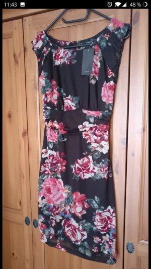 Super schönes Kleid von Mango, Rosen, Blumen, Business, NEU, Braun, Gr. M