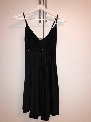 Super Schönes schwarzes Kleid mit Paietten Verzierung