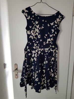 Closet Cocktail Dress white-dark blue