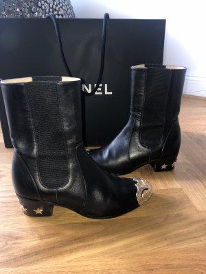 Super selten Chanel Calfskin Paris Dallas Stiefel / Boots - 37,5