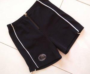 %super sexy Sport-Hose/Hotpants/schwarz mit Reißverschl.,auch zum Baden,Gr.S/36