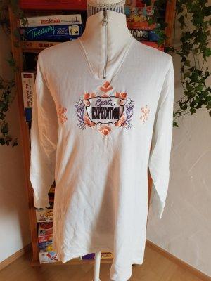 Sportshirt wit-licht Oranje