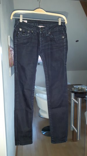 Super Skinny dark denim von True Religion in Größe 25