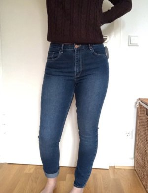 H&M Hoge taille jeans blauw-donkerblauw