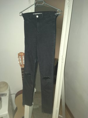 Zara Jeans taille haute gris anthracite