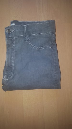 Bershka High Waist Trousers grey