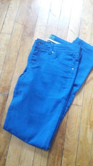 Super Skinny Hose in knalligem Blau von Primark, Größe 36