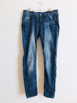 H&M Tube Jeans dark blue-light blue
