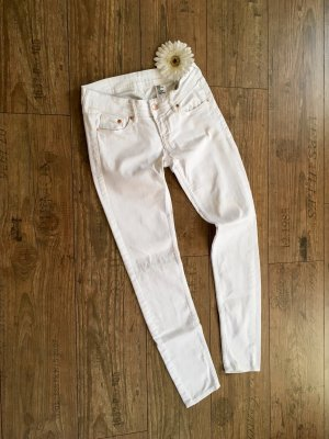 H&M pantalón de cintura baja blanco