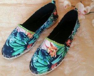 Espadrille sandalen lichtblauw-blauw
