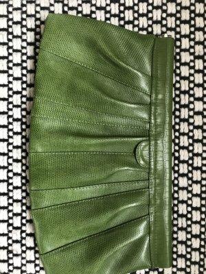 H&M Clutch groen Imitatie leer
