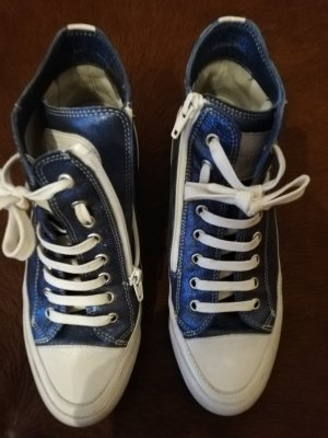 Candice Cooper High Top Sneaker cornflower blue leather