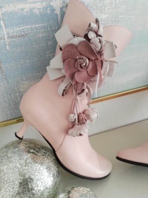Zipper Booties pink