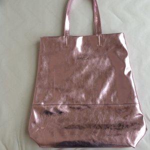 Super stylische shopper Tasche in Rose metallic