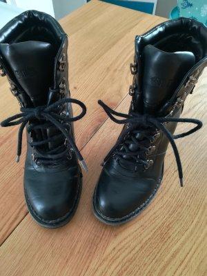 Graceland Lace-up Boots black imitation leather