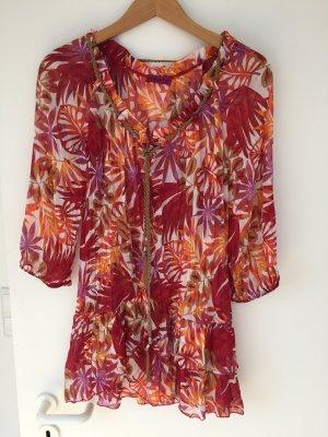 Super stylisches Strandkleid mit Gräserprints