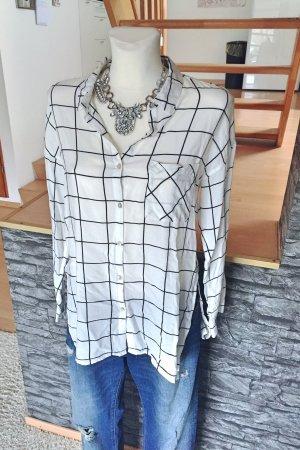 Super süße Blogger oversize Boyfriend Bluse Hemd kariert Schlitz Split Side