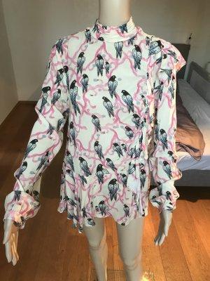 Super süße Bluse mit Tauben in weicher Qualität H&M Größe 40