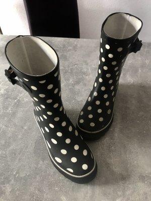 Botas de agua negro-blanco