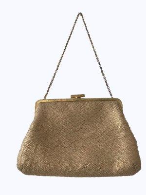 f857d0aca2b0a Super süße Vintagetasche in gold