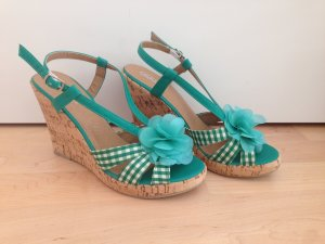Buffalo girl Wedge Sandals multicolored