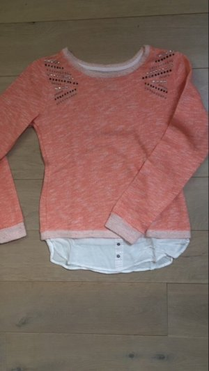 Sweater Twin Set white-apricot