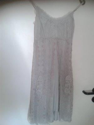 super süßes einzigartiges Blogger Kleid Kleidchen Boho mit Spitze Volant - CREAM