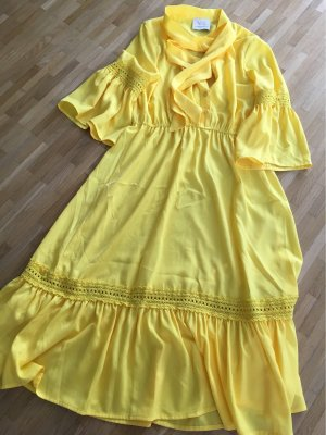very simple Vestido Hippie amarillo