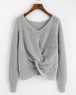 Super süßes Perlen bestezter Pullover