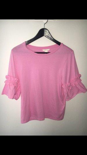 Super süßes T-Shirt von H&M. Größe 36 Farbe pink/rosa Volant top Zustand