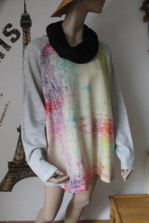super Sweatshirt * Oversize * glänzendes Vorderteil * Größe 3XL *